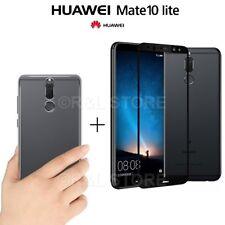 COVER per Huawei Mate 10 Lite CUSTODIA TPU + PELLICOLA VETRO TEMPERATO 3D CURVO