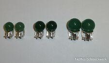 Ohrclips Ohrringe Silber 925 mit Aventurin-Kugel grün -versch. Grössen-