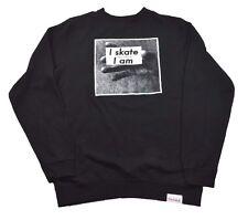Diamond Supply Co. I AM CREWNECK Black White Screenprint (D) Men's Sweatshirt