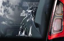 Dobermann on Board - Car Window Sticker - Doberman Pinscher K9 Sign Decal - V05