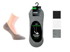 Chaussures homme invisible trainer chaussettes en coton mélangé chemises blanc gris noir de 6 à 11 un