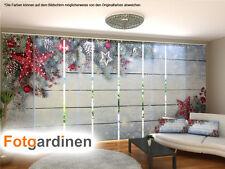 Fotogardinen Weihnachtsdeko, Schiebevorhang Schiebegardinen 3D Fotodruck,auf Maß