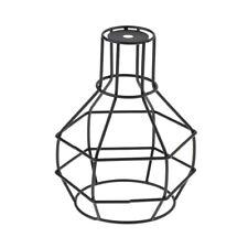 Cage de fil de fer suspension lampe abat-jour pendentif lumière abat-jour
