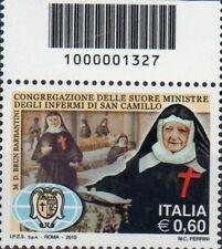 2010 francobollo Suore Ministre Infermi di San Camillo CON CODICE A BARRE 1327