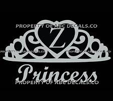 VRS Crown Royal Tiara Queen Princess Heart Love Custom INITIAL Z Car Vinyl Decal