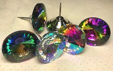 3er Pack 35 mm Strasssteine Polsterknägel Glas Regenbogen oder Crystal AB