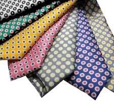 Nuova Cravatta uomo a pois trend retro vintage stile VARI COLORI MISURE seta Ita