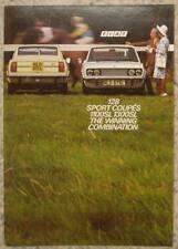 FIAT 128 SPORT COUPES 1100SL & 1300SL Car Sales Brochure 1973 #50M 10/72