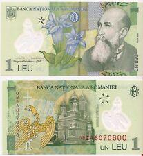 ROUMANIE billet neuf de 1 LEU Pick117 NICOLAS LORGA CURTEA DE ARGES POLYMER 2005