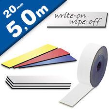 Cinta magnética de color borrable 0,85mm x  20mm x 5m - rollo