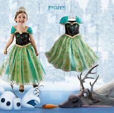 Frozen Dress Princess Anna Elsa Queen Girls Cosplay Costume Party Formal Dress