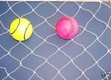 """70' x 30' Baseball Softball Football Barrier White Nylon Netting  1 3/4"""" #15"""
