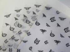 Papel vitela Estampado-Negro Mariposas A4 110gsm elegir 10 o 25 Hojas Craft