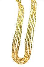 Weiß Zirkonia Edelstein 3mm Rund Facettierte Perlen 30.5-114cm Stränge Halskette
