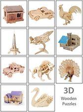 3D Rompecabezas de Madera Jigsaw Puzzle De Juguete Regalo Kit de modelado Woodcraft Construcción hazlo tú mismo