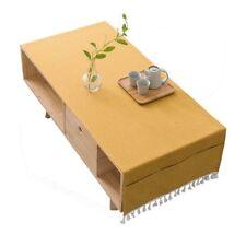 50x150cm línea de algodón rectangular Borla MACIZO Té Mantel Funda Hogar