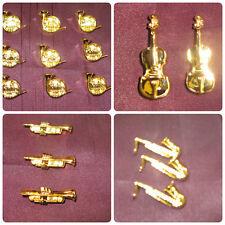 GOLD Musical Shank pulsanti pulsanti £ 1.78 per 2 pulsanti