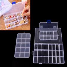 15/10/24 Slots Adjustable Jewelry Storage Box Case Craft Organizer BeaCyn