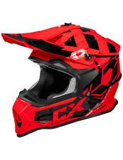 Castle X Mode MX Stance ATV Offroad Dirt Bike Motorcycle Riding Helmet Red Black