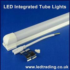 Tubo Led Luz T8 2ft/3ft/4ft 6500k/4000k/3000k integrado, transparente/lechoso/a rayas