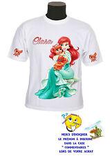 tee shirt fille princesse ariel petite sirène personnalisable prénom réf 131