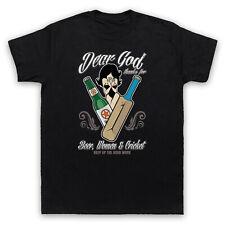 Querido Dios gracias por cerveza mujeres y Cricket Gracioso Eslogan Camiseta para Hombre Mujer Niños