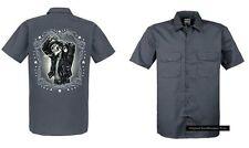 Maglietta Worker grigio Ingrassatore Vintage Tatuaggio &gotico disegno Modello