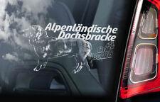 Alpenlandische Dachsbracke - Autofenster Aufkleber - Alpine Hund Zeichen - V01