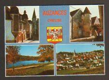 AUZANCES (23) VILLAS , MONUMENT , LAC & BLASON en 1978