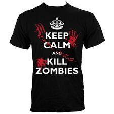 Keep Calm and Kill Zombies Men's Black T-shirt