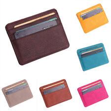 Ultra Thin Slim Leather Purses Credit ID Card Holder Pocket Wallet Man & Ladies