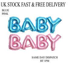 Baby Shower Decoración Fiesta Letra Globo metalizado azul rosa bebé Vincenza