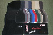 MG ZR, ZS, ZT, TF, Carpet Overmats Leatherette Binding & contrasting Stitching