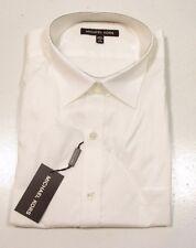 Michael Kors Men's Solid Tonal Stripe White Dress Shirt