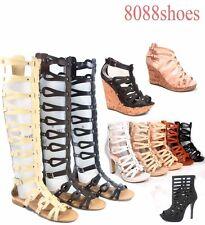 Women's Strappy Open Toe Flat Wedge Platform Heel Sandal Shoes Size 5.5 - 11 NEW