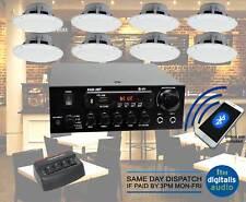 Cafe Restaurant Bluetooth Amplifier Ceiling Speaker System Kit Choose 2,4,8 NEW