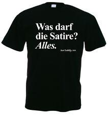 WAS DARF DIE SATIRE? ALLES. schwarz T-Shirt