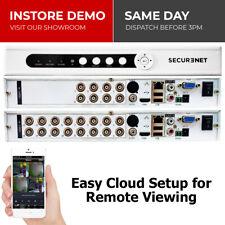 Securenet 8/16 Channel 720P AHD CCTV DVR Digital Video Recorder VGA HDMI BNC