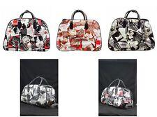MARILYN MONROE Vintage Frozen Holdall Trolley Bag,Hand Luggage Travel HandBag