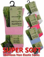 Ladies Non Elastic Bamboo Diabetic Socks 3 Pair Ladies Non Elastic Bambo Socks