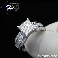 Women 925 Sterling Silver Bling 8Mm Engagement Ring Size 6-9*Sr81