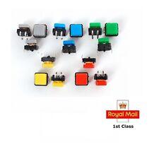 Colourful Tactile Button Switch 12x 12x7.3mm Assortment Square CAPS 5/10/20 PCS