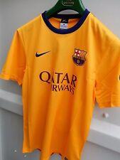 Nike Barcelona Fútbol Camisa Amarilla Manga Corta S Pequeño BNWT