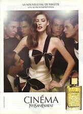 PUBLICITE ADVERTISING 2010  YVES SAINT LAURENT le parfum Cinéma