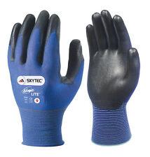 10 x Pairs Of Skytec NINJA LITE Work Gloves Ultra Light Thin Safety PU Coated