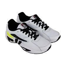 35e85a46 Fila Mindblower SLV para hombre blanco de cuero y textil LOW TOP SNEAKERS  Zapatos