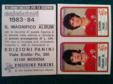 CALCIATORI 1983-84 83-1984 n 489 PERUGIA PAGLIARI VALIGI  Figurina Panini velina