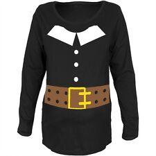 Pilgrim Costume Black Maternity Soft Long Sleeve T-Shirt