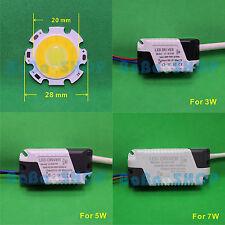 3W 5W 7W Bi-Color 2-Segment Cool Warm White 6000K 3000K COB LED Light +AC Driver