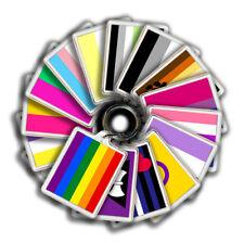 LGBTQ+ Pride Flags Keyring 45mm x 35mm | Transgender Bisexual Pansexual